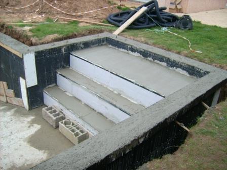11 le choix du liner et la gal re de l escalier for Liner pour piscine rectangulaire
